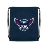 Navy Drawstring Backpack-Primary Athletics Mark