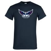 Navy T Shirt-Half Eagle OKWU Eagles