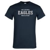 Navy T Shirt-Oklahoma Eagles Wesleyan
