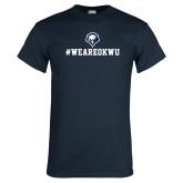 Navy T Shirt-#WEAREOKWU