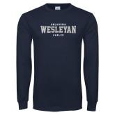 Navy Long Sleeve T Shirt-Oklahoma Wesleyan Eagles