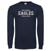 Navy Long Sleeve T Shirt-Oklahoma Eagles Wesleyan