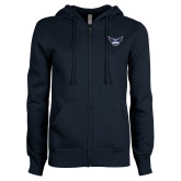 ENZA Ladies Navy Fleece Full Zip Hoodie-OKWU Full Eagle