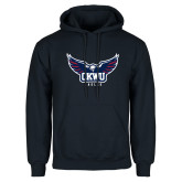 Navy Fleece Hoodie-Half Eagle OKWU Eagles