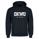 Navy Fleece Hoodie-OKWU Eagles