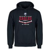 Navy Fleece Hoodie-Baseball Plate