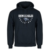 Navy Fleece Hoodie-Volleyball Under Bar