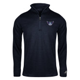 Russell Navy Heather 1/4 Zip-Primary Athletics Mark