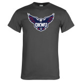 Charcoal T Shirt-OKWU Full Eagle