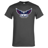 Charcoal T Shirt-Half Eagle OKWU Eagles