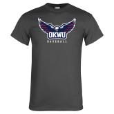 Charcoal T Shirt-Baseball
