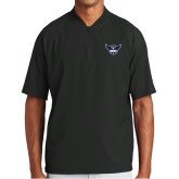 New Era Black Cage Short Sleeve 1/4 Zip-Primary Athletics Mark