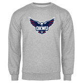 Grey Fleece Crew-OKWU Full Eagle