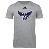 Adidas Sport Grey Logo T Shirt-OKWU Full Eagle