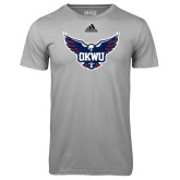 Adidas Climalite Sport Grey Ultimate Performance Tee-OKWU Full Eagle