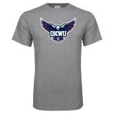 Grey T Shirt-OKWU Full Eagle