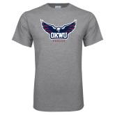 Grey T Shirt-Half Eagle OKWU Eagles