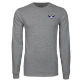 Grey Long Sleeve T Shirt-Primary Athletics Mark