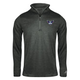 Russell Charcoal Heather 1/4 Zip-Primary Athletics Mark