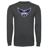 Charcoal Long Sleeve T Shirt-OKWU Full Eagle