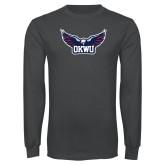 Charcoal Long Sleeve T Shirt-Half Eagle OKWU