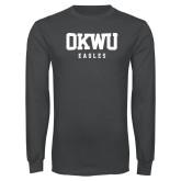 Charcoal Long Sleeve T Shirt-OKWU Eagles
