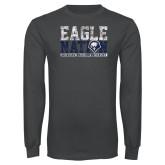 Charcoal Long Sleeve T Shirt-Eagle Nation