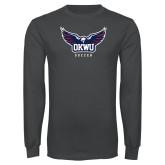 Charcoal Long Sleeve T Shirt-Soccer