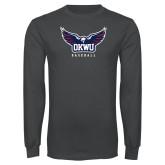 Charcoal Long Sleeve T Shirt-Baseball