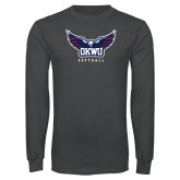 Charcoal Long Sleeve T Shirt-Softball