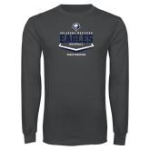 Charcoal Long Sleeve T Shirt-Baseball Plate