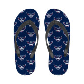 Ladies Full Color Flip Flops-Primary Athletics Mark