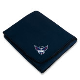 Navy Arctic Fleece Blanket-Primary Athletics Mark