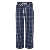 Navy/White Flannel Pajama Pant-OKWU Full Eagle