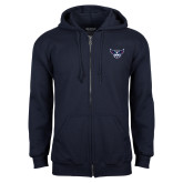 Navy Fleece Full Zip Hoodie-Primary Athletics Mark