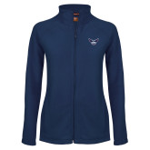 Ladies Fleece Full Zip Navy Jacket-OKWU Full Eagle