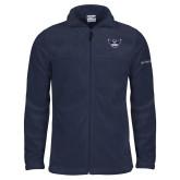 Columbia Full Zip Navy Fleece Jacket-Primary Athletics Mark