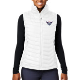 Columbia Lake 22 Ladies White Vest-Primary Athletics Mark