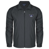 Full Zip Charcoal Wind Jacket-Primary Athletics Mark