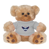 Plush Big Paw 8 1/2 inch Brown Bear w/Grey Shirt-Primary Athletics Mark