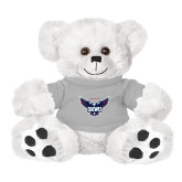 Plush Big Paw 8 1/2 inch White Bear w/Grey Shirt-Primary Athletics Mark