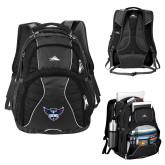 High Sierra Swerve Black Compu Backpack-Primary Athletics Mark