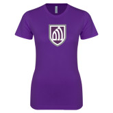 Next Level Ladies SoftStyle Junior Fitted Purple Tee-Shield