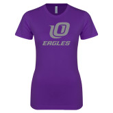 Next Level Ladies SoftStyle Junior Fitted Purple Tee-UO