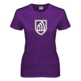 Ladies Purple T Shirt-Shield