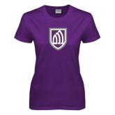 Ladies Purple T-Shirt-Shield