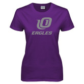 Ladies Purple T Shirt-UO