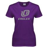 Ladies Purple T-Shirt-UO