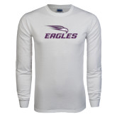 White Long Sleeve T Shirt-Eagles with Head