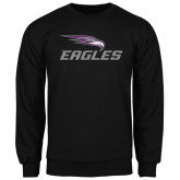 Black Fleece Crew-Eagles with Head
